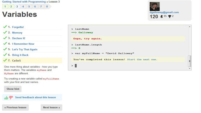 Codecademy Teaches Basic Programming Syntax