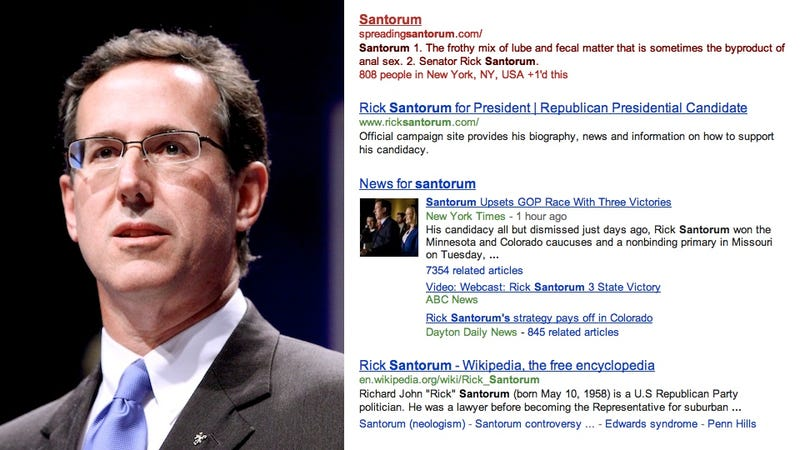 Santorum Is Winning Caucuses but Still Losing Google