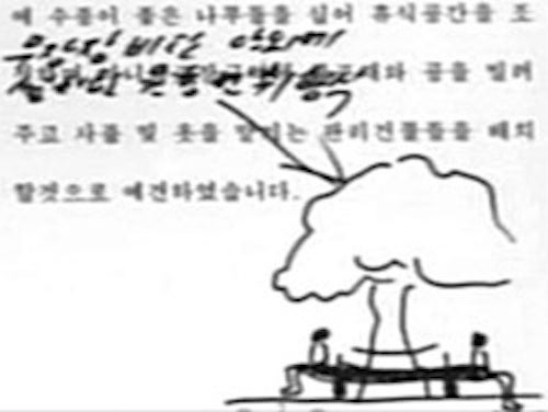Kim Jong-un Drew This Picture of a Mini-Golf Course For Some Reason