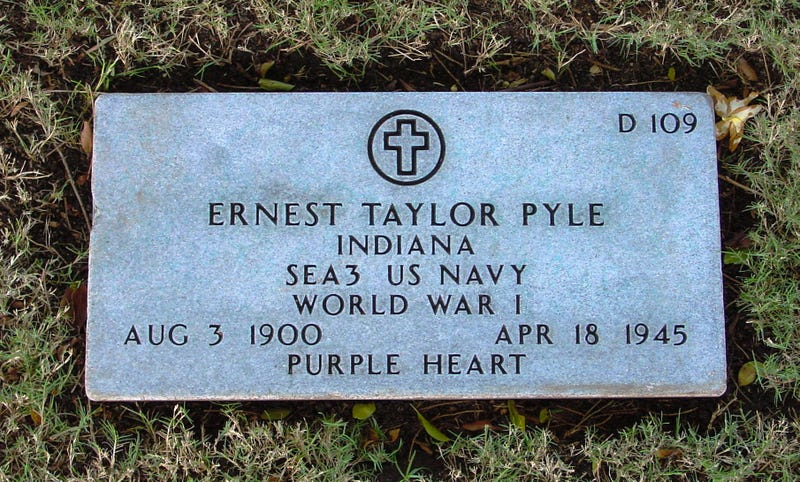 Ernie Pyle, War Correspondent, Died on This Day in 1945