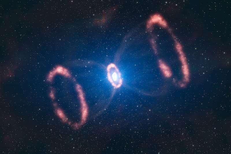 Behold the Majesty of a Supernova's Triple Halo Explosion
