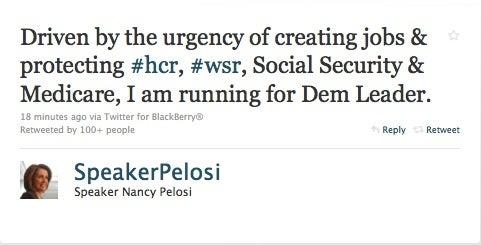Nancy Pelosi Will Run For Minority Leader
