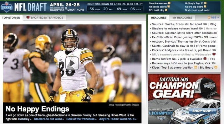 "ESPN's Hines Ward ""Happy Endings"" Headline Is A Rorschach Test For Racists, Perverts Everywhere"