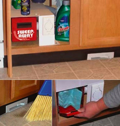 Sweep-Away Cabinet Vac Makes Dustpans Obsolete
