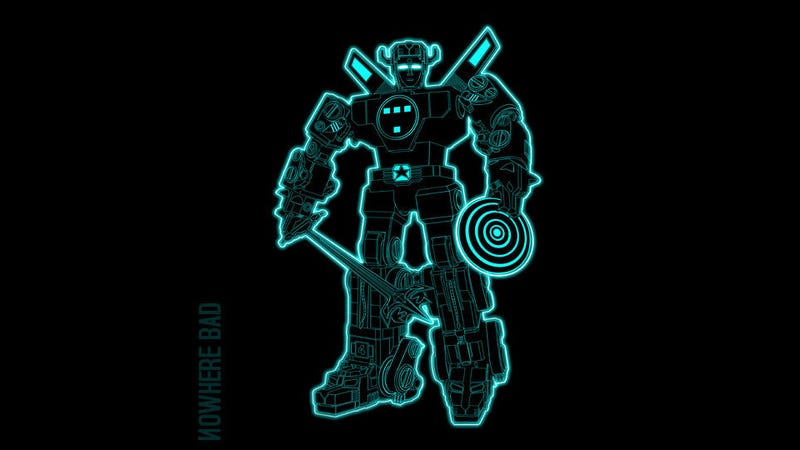 Voltron + TRON = VoltronTRON T-Shirt. Wait, that's not right.