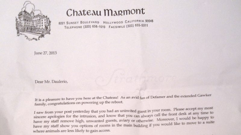 How to Get Kicked Out of Chateau Marmont Without Drugs: A Liveblog