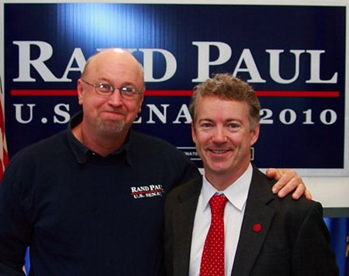 Rand Paul Supporter Who Stepped on Protestor's Head Charged with Assault