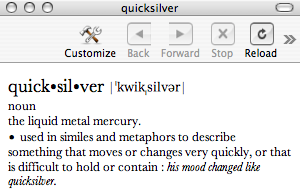 Use Quicksilver as Your Dictionary