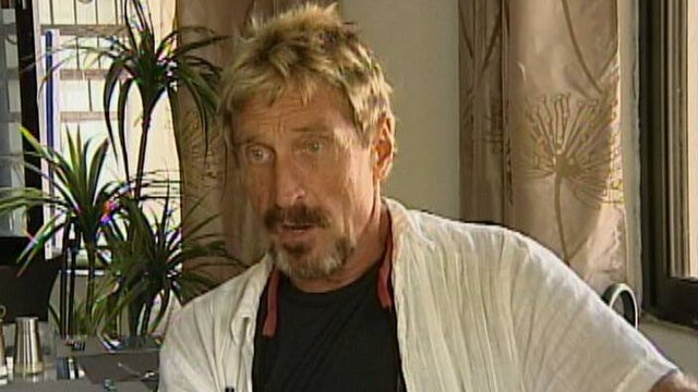 John McAfee Tells CNBC That If He's Going To Do Drugs, They're Going To Be Good