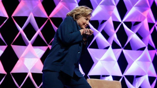 Truthers Think Hillary Planned the Shoe-Throwing Incident