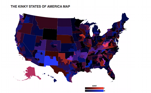 Data Map: The Kinkiest States In America