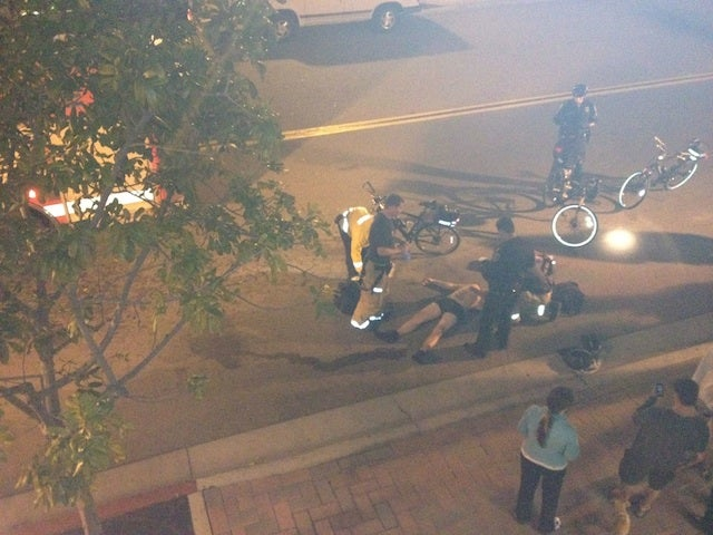 Guy In Underwear Gets Head-Stomped By Three Men, Apparently Near Petco Park [UPDATED]