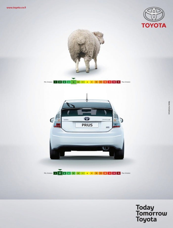 Toyota Says Prius Is Better Than Sheep Farts