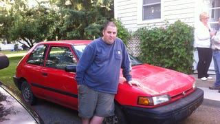 I inherited a car today: 1992 Mazda 323 Automatic ZOOM ZOOM!