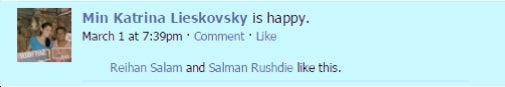 The Facebook Flirting Salman Rushdie Used to Win Min Lieskovsky's Heart