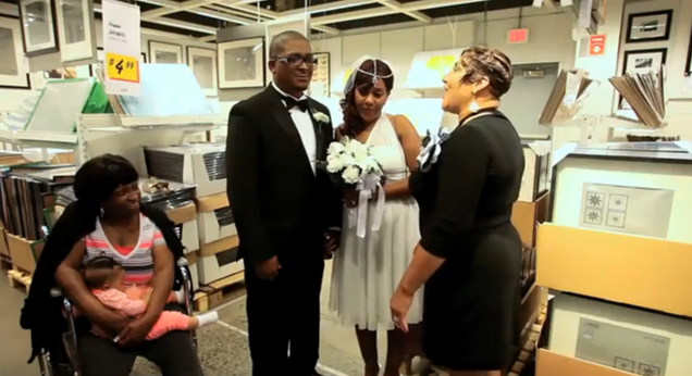 Sentimental couple gets married at a new jersey ikea for Elizabeth new jersey ikea