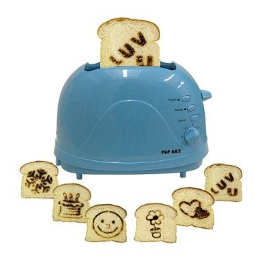Pop Art Toaster: What, No Jesus Face?