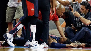 A Lot Of You Wanted To See Paul George's Broken Leg This Year