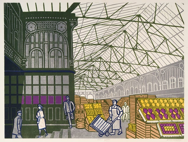 London Has Never Looked Better Than in These Mid-Century Linocuts