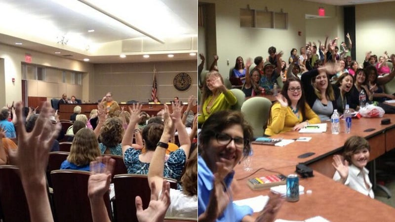 100s of Pro-Choice Texans Took Over a B.S. Abortion Hearing Last Night
