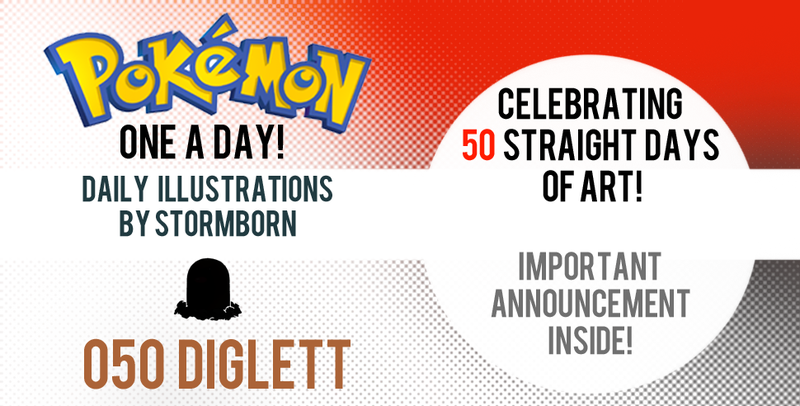 Direct your attention to Diglett! Pokemon One a Day!