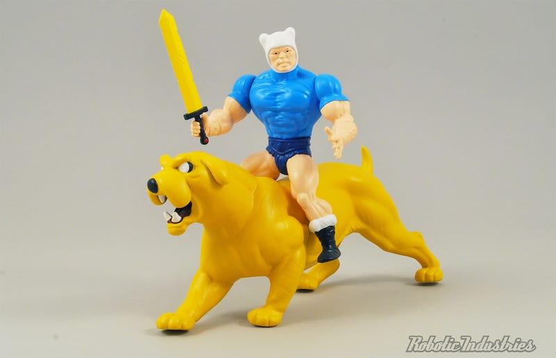A He-Finn Figure Will Make You Want a He-Man and Adventure TimeCartoon Mashup Too