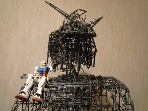 Gundam Made From Plastic Model Throw-Aways
