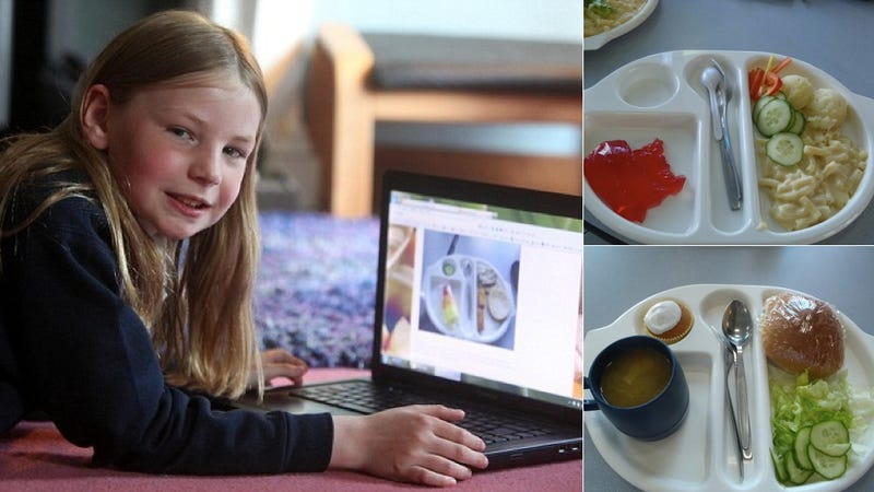 Adorable Nine-Year-Old Girl Reviews Her School Lunches on Her Blog