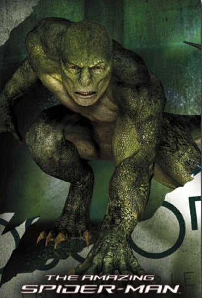 A fantastic full frontal shot of The Amazing Spider-Man's Lizard