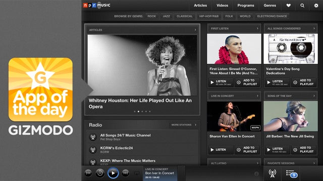 NPR Music for iPad: Watch Live Concerts on Your iPad
