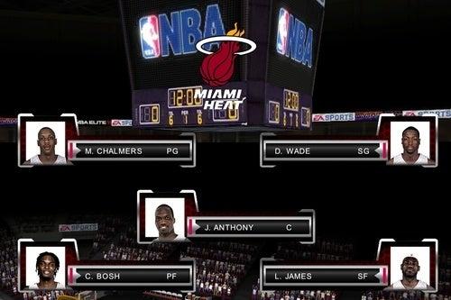 NBA Elite 11 iPhone Screens