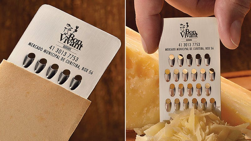 Of Course a Cheese Store Has a Tiny Grater Business Card