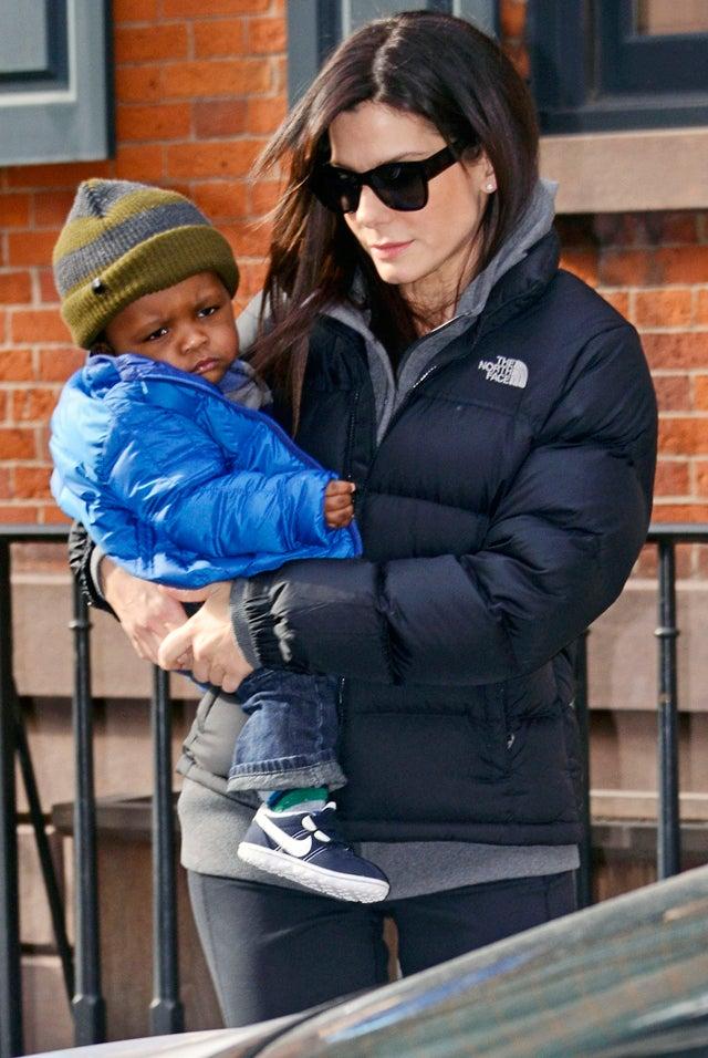 Sandra Bullock's Baby Louis Has The Blues