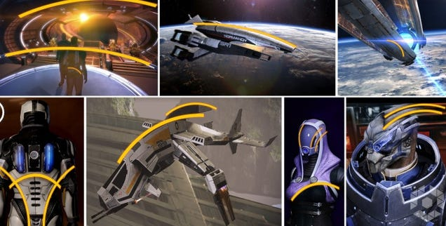 La forma que está presente en todo el diseño de Mass Effect