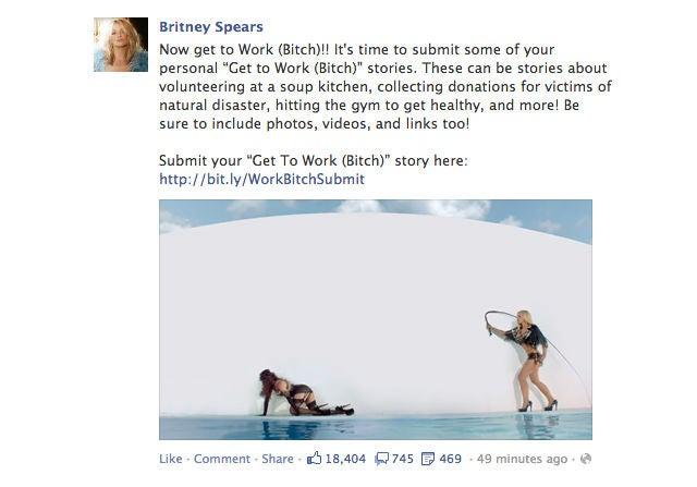 This Is What Britney Spears Thinks Volunteerism Looks Like