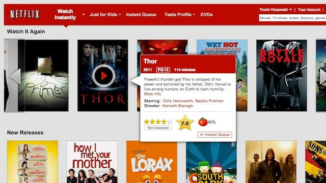 Netflix Rate Adds Rotten Tomato and IMDB Ratings to Netflix