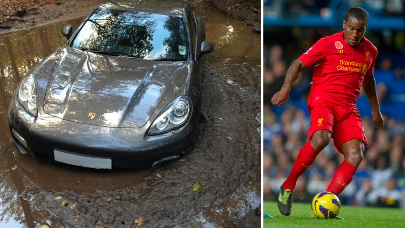 English Soccer Player Leaves $160,000 Porsche Stuck In The Mud