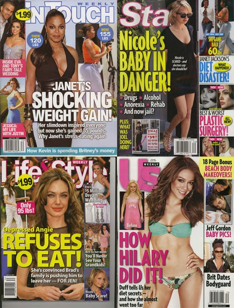 Our Weekly Roundup Of Celeb Tabs Reveals: Most Celebs Still Thin; Heidi & Spencer Still Offensive