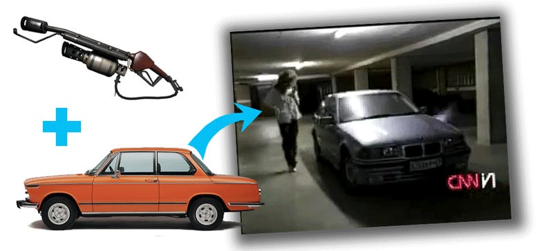 A Flamethrower Option For Your BMW Was Once A Totally Real Thing