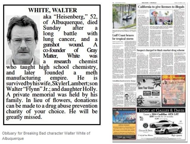 Breaking Bad Fans Sneak Major Spoiler Into Albuquerque Newspaper