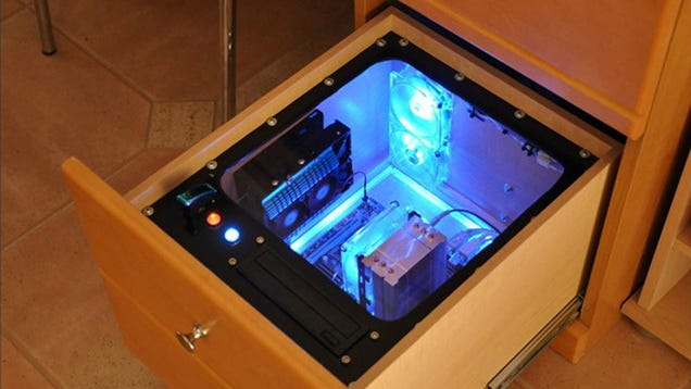 "... drive upgrade, this DIY ""PC in a desk"" could solve many of your woes"