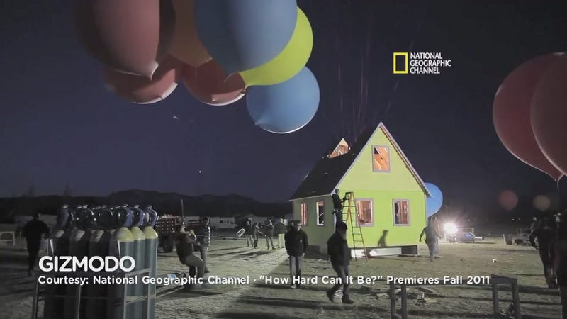 The Video of the Real Life Up! House Flying Away