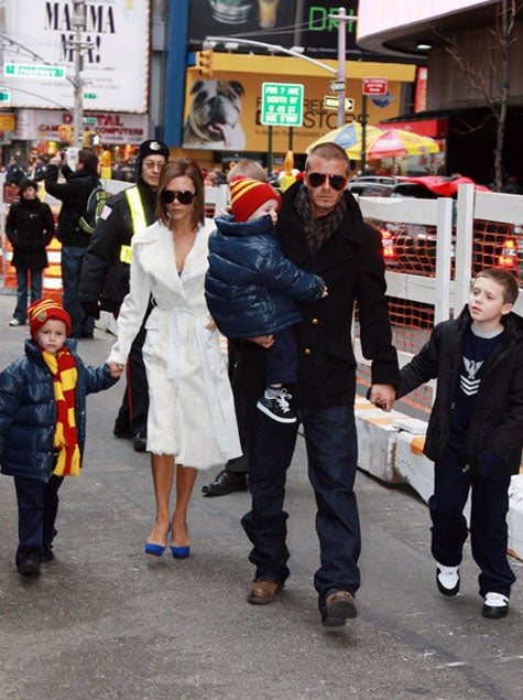 The Beckhams Do Broadway