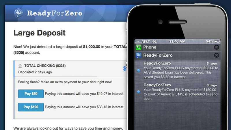 ReadyForZero Calculates Your Optimal Debt Reduction Plan and Pays Your Bills Automatically