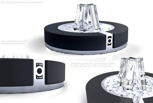 Nobo Radiator Looks Like a Fire Pit In Superman's Fortress of Solitude