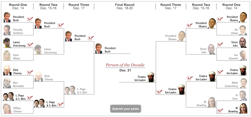 Google Guys Lose to President Bush in Weirdest Bracket Ever