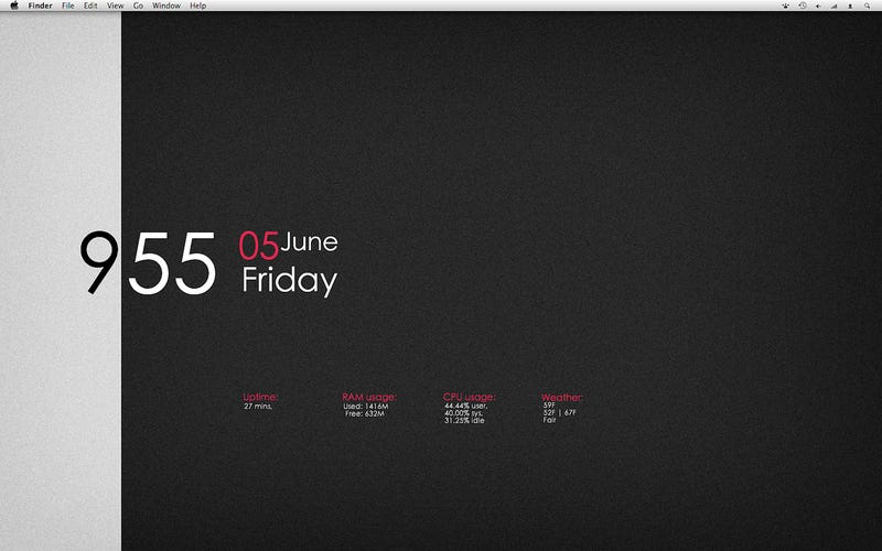 The Minimalist OS X Desktop