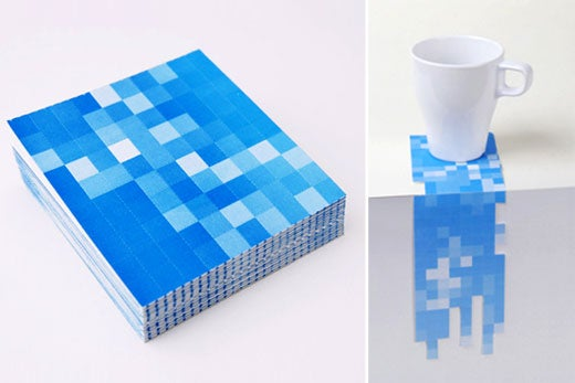 Pixel Drink Coasters Can Have Any 8-Bit Shape You Want