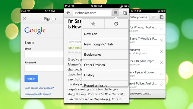 Chrome for iOS Adds Full Browsing History, Easy Sign-In to Google Apps