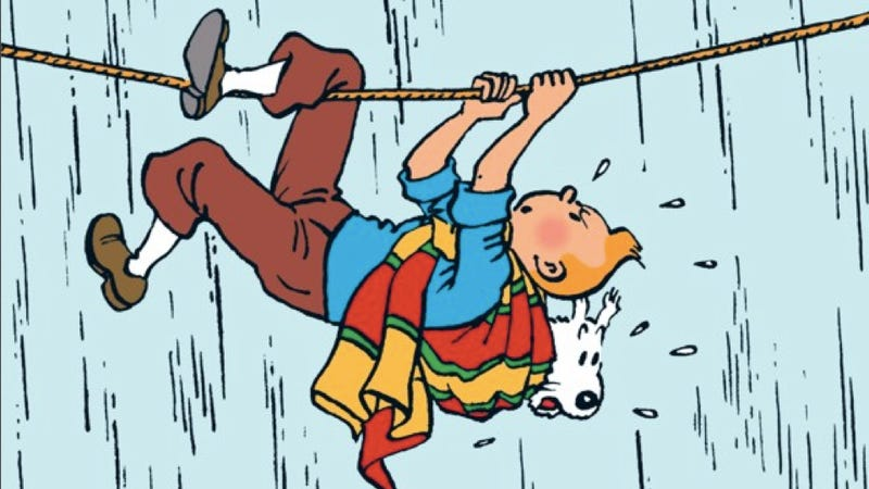 Why was Tintin creator Hergé accused of being a Nazi Collaborator?